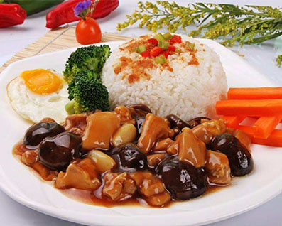 武汉香菇鸡丁盖饭